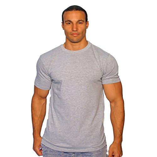 Wholesale T-shirt Transfers (Quality Plain T-Shirts Bulk 6 Pack Screen Printing Heat Transfer Designer Print (Large, Gray))
