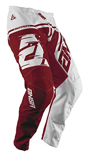Red Syncron Pants - Answer Racing A18.5 Syncron Air Youth Boys Off-Road Motorcycle Pants - White/Red / 18