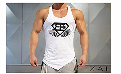 Body Engineers Gym tank top fitness training new collection 2016 (Black, M)