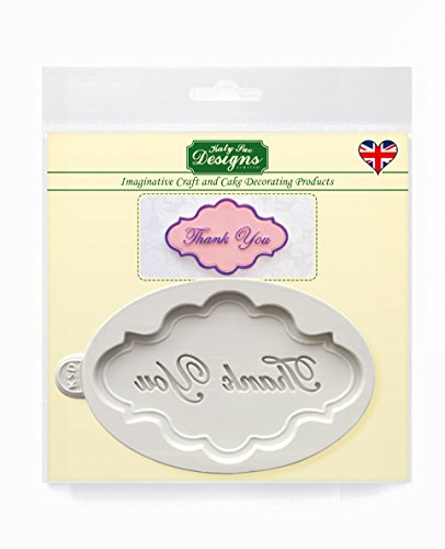 Thank You Plaque - Katy Sue Designs Silicone Mold for Cake Decorating Cupcakes Sugarcraft and Candies