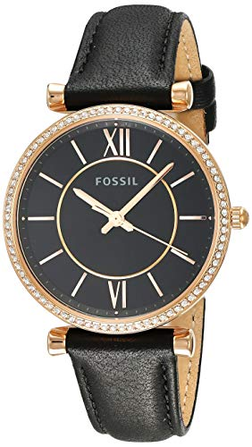 Fossil Women's Carlie - ES4507 Black One Size (Fossil Outlet)