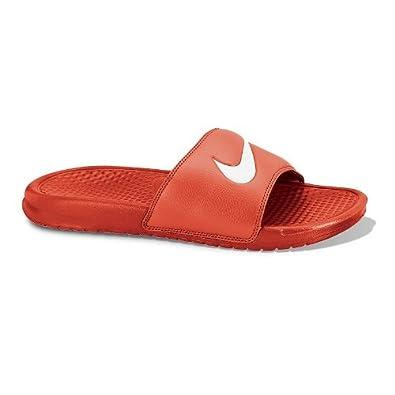 426ff4b6c37 Nike Benassi Swoosh Slide Sandals (TeamOrange White) 7