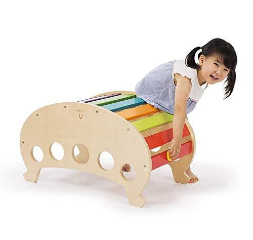 CASSARO Wooden Ark Rocker (Rainbow) - CPSIA Certified ASTMF 963-17