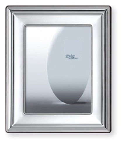 .925 STERLING SILVER Picture Frame and MIRROR 8'' x 10''. Mahogany Back. Made in ITALY by Sterling Touch