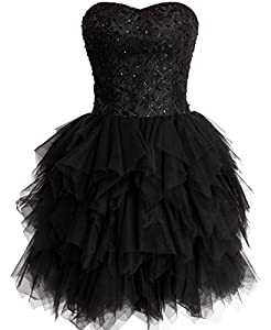 FAIRY COUPLE Tulle Strapless Evening Cocktail Party Homecoming Dress D0237