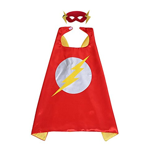 AOVCLKID Comics Cartoon Dress Up Costumes Cloak and Masks (Flash Girl)