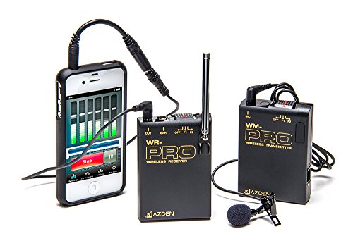 Azden WLX-PRO+i VHF Wireless Microphone System for Smartphones & Tablets by Azden