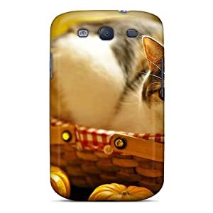 Galaxy S3 Case Cover Kitty In A Basket Case - Eco-friendly Packaging