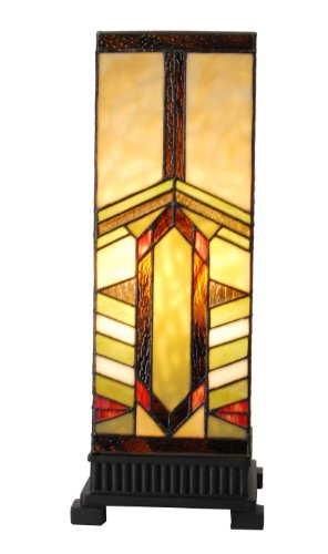 Stained Glass Mission Style Lamp - 7