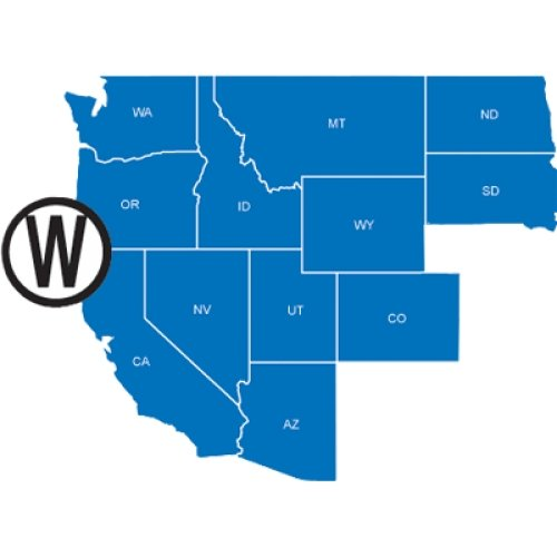 (NAVIONICS NAV-MSD/HMPT-W6 / HotMaps Platinum West on SD card, MFG# MSD/ HMPT-W6, multi-dimensional lake maps for AZ, CA, CO, ID, MT, ND, NV, OR, SD, UT, WA, and WY.)