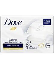 Dove Beauty Soap Bar Original Washes Away Bacteria, 4 x 100g