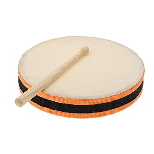 """Wholesale Andoer 8"""" Wood Hand Drum Dual Head with Drum Stick Percussion Musical Instrument for cheap"""
