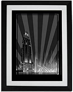 Address Hotel Down Town- Black And White No Text F01-m (a3) - Framed