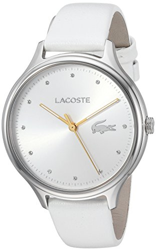Lacoste Women's 'Constance' Quartz Stainless Steel and Leather Casual Watch, Color:White (Model: 2001005)