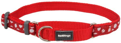 Red Dingo Martingale Collar - Small - White Spots On Red