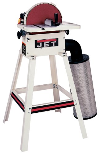 JET 708432K JDS-12DC 12-Inch 1 Horsepower Open Stand Disc Sander with Dust Canister, 115/230-Volt 1 Phase