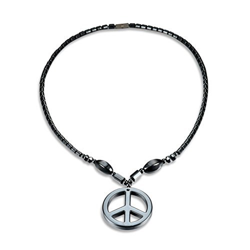 Hukai Hematite Necklace With Magnetic Therapy Healing Health Unisex Jewelry Geometric