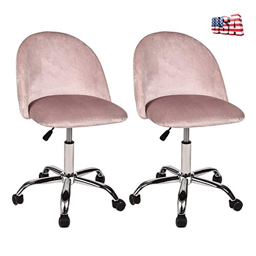 Swivel Drafting Rolling Stool – Adjustable Spa Salon Barstools Set of 2 with Back Support and Wheels Flannel Fabric 360 Degree Swivel for Bar Table Autumn Winter Heavey Duty