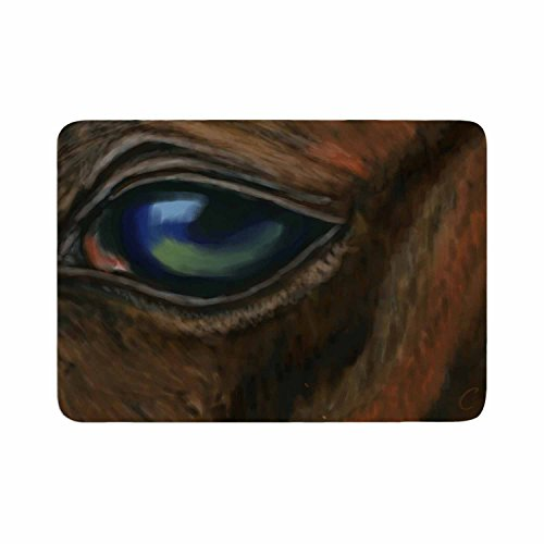 KESS InHouse CS2025ABM01 Cyndi Steen ''Arabian Eye'' Brown Animals Memory Foam Bath Mat 24 X 36 by Kess InHouse