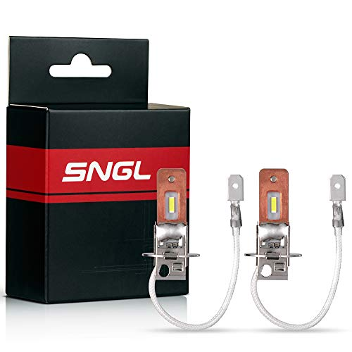SNGL H3 LED Fog Light bulb 6000K White Super Bright without Glare for Fog lights or DRL(Pack of 2) ()