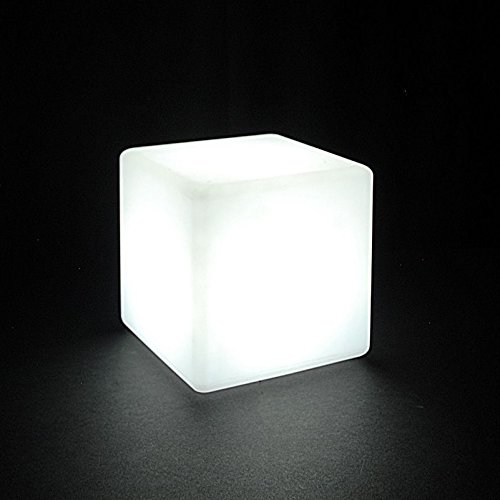 LOFTEK LED Light Cube : 7-inch RGB Colors Cool Cube Lights with Remote Control, MCU Tesseract Mood Lamp, Waterproof and Rechargeable Beside Desk Lamp,Perfect for Kids Nursery and Toys