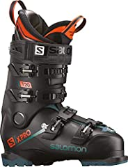 Weighing less than 2kg, X PRO 120 delivers heavyweight skiing performance everywhere in the resort with a Twinframe 2 shell design that delivers power to the edges, and an exclusive, lightweight polyamide chassis.Alpine Boot Last: 100/106Flex...
