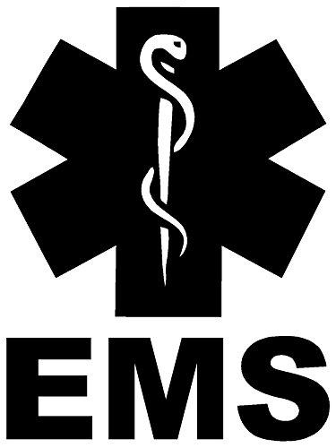 EMS Emergency Medical Services White Sticker Decal Art Car White Sticker Decal (Emergency Services Decals)