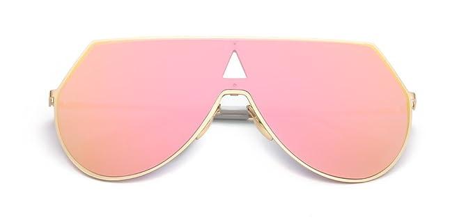Gafas de sol 2018 Estrella de una sola pieza plana de moda ...