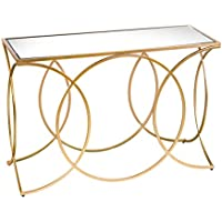 Furniture HotSpot - Geometric Gold Console Table - 43 W x 16 D x 29.25 H