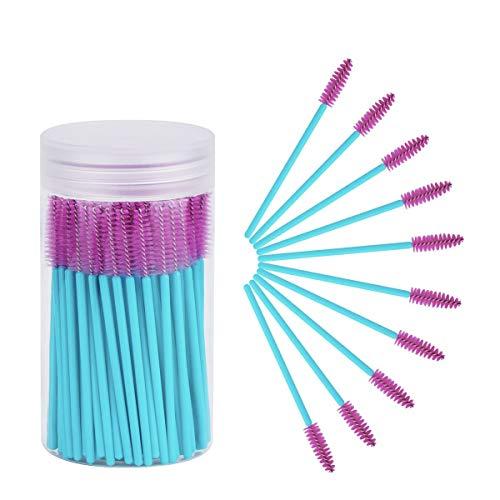 Cuttte 100pcs Disposable Mascara Brushes Wands Eyelash Brush Makeup Applicators Kits for Eyelash Extensions and Mascara Use