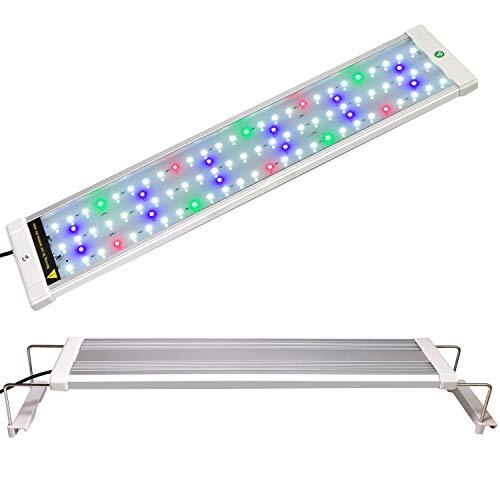 COODIA Full Spectrum Aquarium Light Fish Tank Light High Illumination Multi-Color LED RGB Plant Lamp, with Night Mode (Fits 19-28