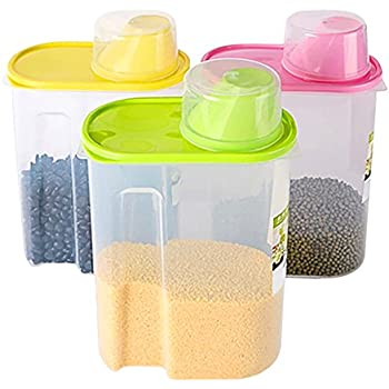 Exceptionnel Basicwise Large BPA  Free Plastic Food Saver, Kitchen Food Cereal Storage  Containers With Graduated