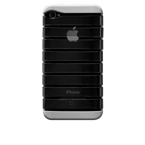 Case-Mate BT-COV-CM017853 Ribcage Lumen Case für Apple iPhone 4/4S schwarz