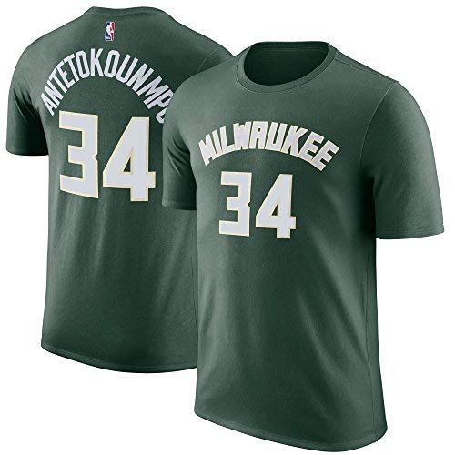 Outerstuff NBA Youth Performance Game Time Team Color Player Name and Number Jersey T-Shirt (Large 14/16, Giannis Antetokounmpo)