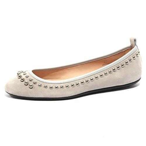 B1434 ballerina donna TODS scarpa borchie grigio shoe woman Grigio