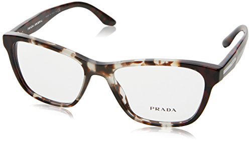 Prada PR04TV Eyeglass Frames U6K1O1-52 - Spotted OP Brown/Spotted Red - Prada Frames Red