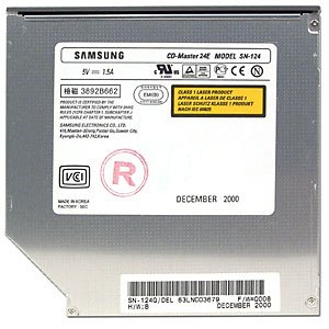 Samsung SN-124 24x Notebook CD-ROM Drive (Black bezel)