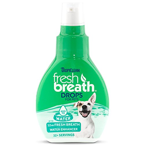 TropiClean Fresh Breath DROPS, 2.2oz (Fresh Breath Drops)