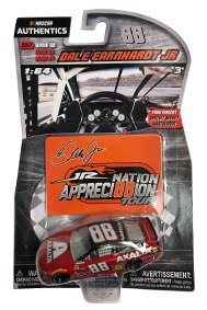 NASCAR Authentics Dale Earnhardt Jr. #88 Diecast Car 1/64 Scale - 2017 Wave 88 - Dale Earnhardt Jr. 2017 Axalta Last Ride with Appreci88ion Homestead Magnet - Collectible