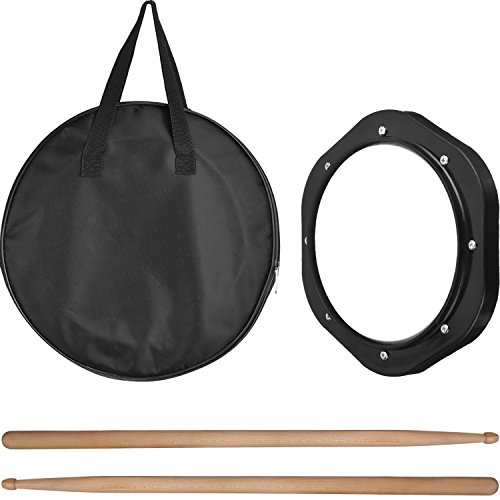 Mtlee Drum Practice Pad Portable with Carrying Bag and Drumsticks