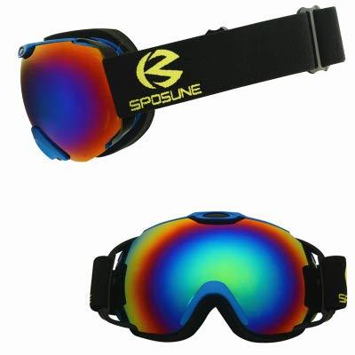 Whj Gafas de esquí al Aire Libre antivaho Gafas de Snowboard 100% protección UV para esquís de esquí y Otros Deportes de Invierno por Whj
