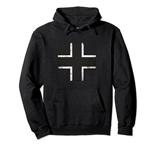 - WWII German Military Balkenkreuz Iron Cross Hoodie