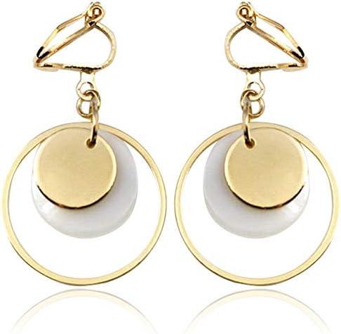 Soul Statement Womens Clip-on Dangle Earrings Geometric Dangles for Non-Pierced Ears