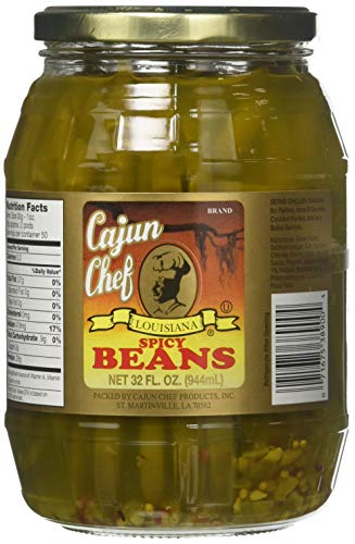 - Cajun Chef Louisiana Spicy Green Beans, 32 Ounces
