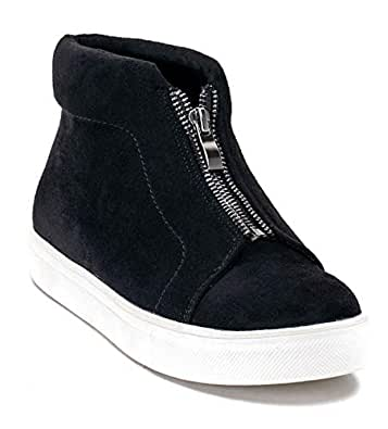 Gc Shoes Women's Raja High Top Wedge Fashion Sneakers (6 B(M) US, Black CB)