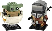 LEGO BrickHeadz Star Wars The Mandalorian & The Child 75317 Building Kit, New 2020 (295 Pie