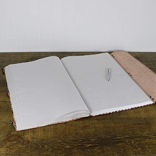 Seven Stone Leather Journal Handmade Notebook Unlined Blank 240 Pages 13 1/2 X 22 inches by  (Image #5)