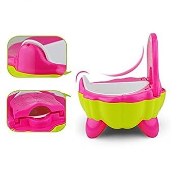 Malayas/® Baby T/öpfchen Kinder Toilette Tragbar Hohe R/ückenlehne und ergonomisches Paprika-Form Design Spa/ß Lernt/öpfchen und Fu/ßbank f/ür Ihre Kinder ersteToilette