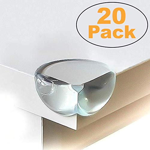 Corner Protector - Keep Babies from Sharp Edge of Table, Furniture and Desk - Best Baby Safety Corner Guards from Injuries - High Resistant Adhesive (20 Pack)