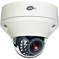 KEZ-C2DR28V12IR KT&C 2.8~12mm Varifocal 1080p Outdoor IR Day/Night Dome HD-TVI Security Camera 12VDC/24VAC - White
